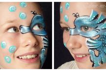Colour-me-in Face Painting / Face painting designs and how to's.
