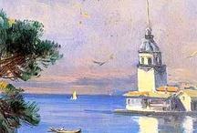 yağlı boya İstanbul resimleri