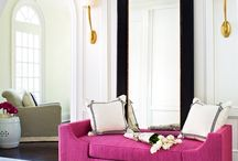 Pops of colour in neutral interiors