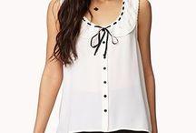 Блуза_Full round (круглый воротник) / блуза с круглым воротником. Рубашки с круглыми воротниками смягчают прямую линию плеч. Такой воротник может послужить значимой декоративной деталью, если он выполнен из контрастной ткани, либо украшен вышивкой. Эта деталь поможет привлечь внимание окружающих к верхней части наряда, что зачастую необходимо, например, для женщин с тяжёлым низом.