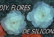 flores silicona