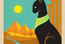Vintage Egypt travel posters