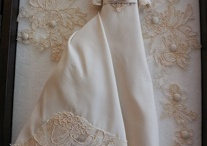 Mini replica wedding gowns