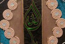 Allah Lafzı / folyo kabartma ve filografi sanatı ile yapılmış tablo