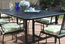 Anvil Fireside Iron Patio Furniture / Beautifully Crafted Iron Furniture made by hand in Canada.