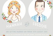 illustrated wedding