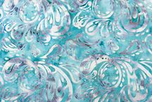 Bali batiky / Bali batiks / Úchvatné pestrobarevné batikované látky z Bali, ruční práce :)