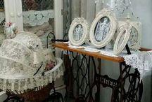 Patas mesas de coser antiguas