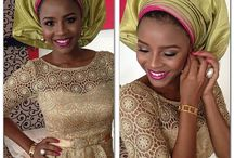 We love: Nigerian lace styles / We produce a lot of lace for the nigerian market - so we are also interested to show you how Nigerians wear the lace.
