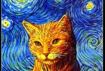 artistic cats...