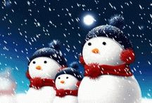 sneeuw poppen