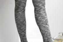 Knitting - footless thigh high socks