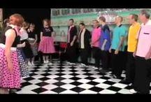 dance, dance, dance to the song your heart sings / Jitterbug, Be Bop, Mashed Potato, Twist, Jerk, Pony, Swing,  Lindy Hop, Electric Slide, Charleston, Moonwalk, Two-step, Boogie-Woogie..... / by Linda Woodall