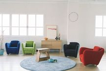 Circle rug / Interior ideas with circle rug