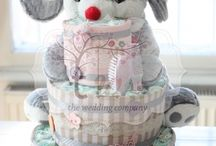 My own diaper cakes