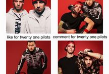 Bands amirite laddies ♬ / Look who fell for it haha shame on you... Bands... I'm afraid it's mostly twenty øne piløts, but yeah. I'll spice it with some other punk-rock, rock or metal beauty anyways, such as Falling In Reverse and Motionless In White... Andy Biersack hmm yum yum