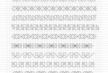 wzory literopodobne-szlaczki