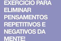 Exercício P/ eliminar pensamentos negativos