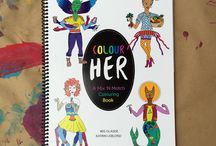 Colour Her Mix and Match / Mix and Match colouring book by Iris Glaser and Katrin Leblond