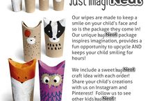 imagiNeat / Just imagiNEAT!  You get to have fun flavored face wipes AND upcycle the cool shipping tubes NeatCheeks come in! We kicked those boring shipping boxes to the curb and brought in a whole new level of creative play!  The imagiNEAT package is a totally tubular craft experience!   Join the board dedicated to the collection of cool crafts kids create from our tubular imagiNEAT packaging!  Keep kids smiling & reuse the packaging your NeatCheeks come in! Learn more: www.NeatCheeks.com #imagiNEAT