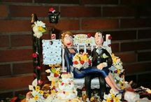 Top wedding cake fimo