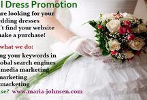 Marketing Bridal service / Marketing Bridal Dresses, wedding venues and bridal flowers