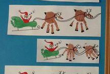 Weihnachtskarten handprint