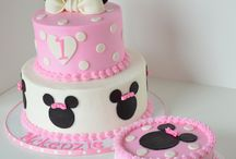 Pink baby minnie 1st B-day
