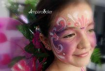 Maquillaje Niños / Maquillaje para niños cumpleaños, comuniones, carnavales,de hadas, spiderman, con acuacolores ,materiales hipo alergénicos de fácil limpieza con agua.