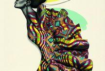 Kanga Obsession / Looks & Artículos de moda / deco hechos con telas del continente africano.  Colores vivos & Estampados de pura obsesión...