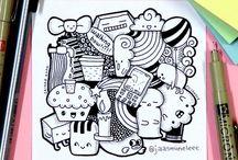 Dibujos con tinta