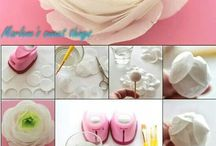 Tutorial waffer paper flowers