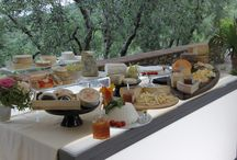 Tuscania Events & Oste Gentiluomo Caterer / Here is a collection of photos from the collaboration with authentic italian caterer Oste Gentiluomo. This is what an Italian wedding reception looks like! Buon appetito!