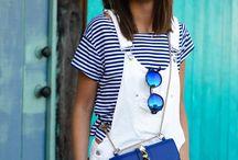 Outfits mit kurzer weißer Latzhose / Outfits mit kurzer weißer Latzhose  Outfits with short white dungarees