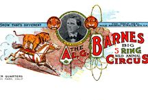 Advertising / The Circus used many different forms of advertising from Letterheads and Business cards to Heralds, Couriers and Christmas Cards.