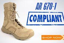 AR 670 -1 Compliant Boots / AR 670-1 Compliant Boots Oakley - Reebok - Blackhawk - Belleville