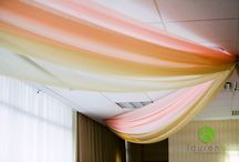 Colored Ceiling Drape in the Twin Cities