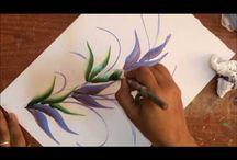 Oil painting stroke