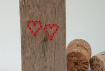 Ella Robinson, Driftwood Hearts / Driftwood Hearts, made from driftwood beachcombed and stitched by Ella Robinson.