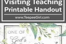 Visiting teaching handouts