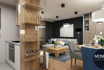 Mieszkanie stanowiące połączenie różnych stylów z charakterystycznymi niebieskimi dodatkami / Kolejny nasz projekt to połączenie różnych stylów w jedną, uzupełniającą się całość. Wyróżnionym akcentem jest kolor niebieski występujący w niemal każdym pomieszczeniu w postaci mebli i różnego rodzaju dodatków.  Po więcej inspiracji zapraszamy na Naszą stronę internetową:biuro@monostudio.pl oraz na Facebooka