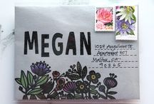 SNAIL MAIL  / Handwritten letters and crafted envelopes