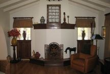 Stucco and Plaster Fireplaces / Stucco and plaster fireplaces designed and built by San Diego masonry contractor Paul Walker of Custom Masonry & Fireplace Design in San Diego, California