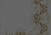 Схемы (вышивка, филейное вязание)