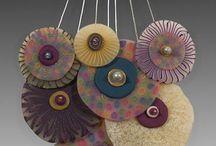 fimo, polymer clay / Ciekawe wzory biżuterii itp.