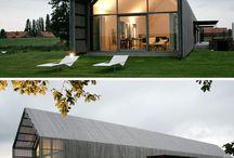"""Nowoczesne stodoły inspiracje / Inspiracje domów typu """"Nowoczesna stodoła"""". Pomysły na nowoczesną stodołę i wiele więcej. Firma Przybylski może zrealizować konstrukcje aluminiowo-szklane dla takiego domu. Zapraszamy do galerii."""