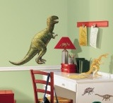 Dinosaur themed bedroom and accessories / Dinosaur themed wall stickers, mirrors, bags and lunch boxes for little children who love dinosaurs.