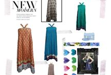 Bohemian Skirt /  Easy to wear and care, No need to iron simply twist skirt to make crinkle and keep it in your wardrobe.