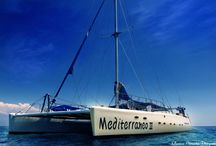 Mediterraneo III / Mediterraneo III is a luxury catamaran vessel and She is currently laying at the last berth of Limassol Old Port (Next to Limassol Marina).