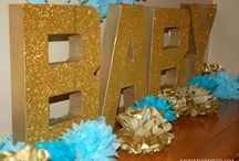 Black-White-Gold Baby Shower / Gender neutral baby shower ideas combining chalkboard/black, white and gold.  Mixes of glam with rustic touches. / by Lisa Frank